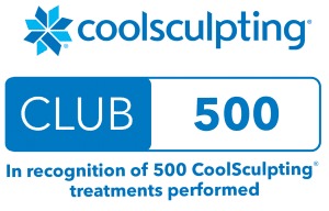 Coolsculpting Club 500 treatments performed badge
